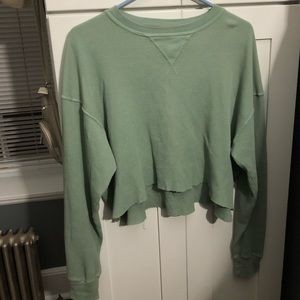 Brandy Melville cropped thermal top